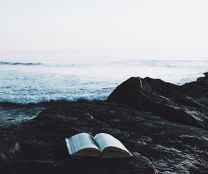 book, sea, and nature image