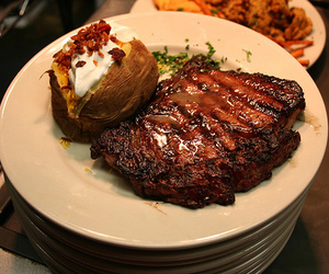food, delicious, and steak image