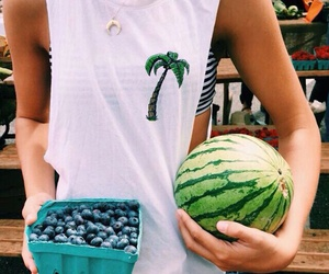 summer, fruit, and watermelon image