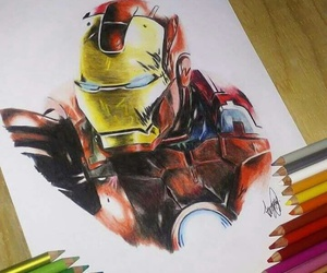 colors, draws, and iron man image
