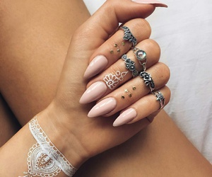 girl, jewelry, and pink image