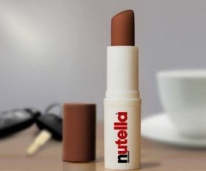 nutella, lipstick, and chocolate image