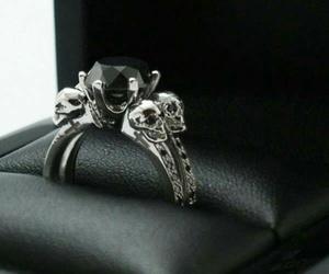 skull, ring, and black image