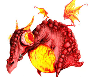 dragon, red, and eye image