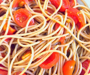 healthy, oil, and spaghetti image
