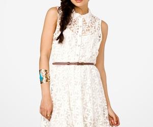 blanco, vestido, and joven image