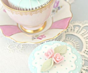 sweet, cup, and cupcake image