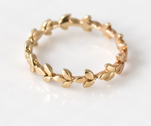 etsy, gold ring, and gold band image