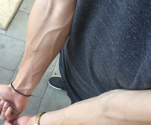 arm, veins, and boy image