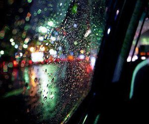 rain, light, and car image