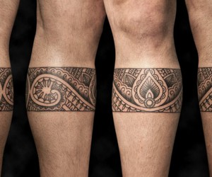 polynesian tattoo and band tattoo image