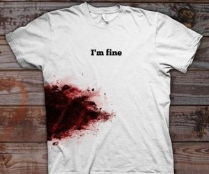 blood, feelings, and shirt image