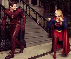 Supergirl, flash, and the flash image