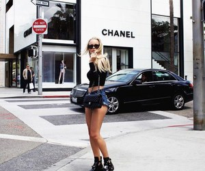 girl, outfit, and chanel image