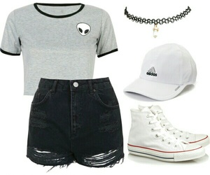 alien, casual, and converse image