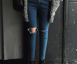 denim, outfit, and sweater image