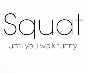 peachy, squat, and weights image