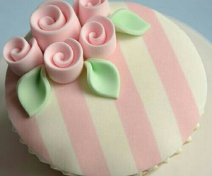 beautiful, stripes, and cute cakes image