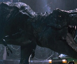Jurassic Park, t-rex, and dinausaur image