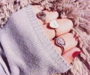 nails, hand, and ring image