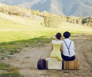 couple, road, and cute image