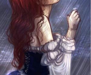 disney, ariel, and rain image