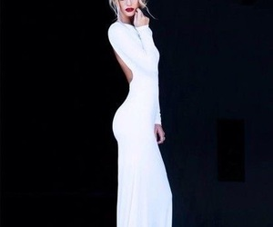 dress, white, and blonde image