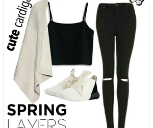 Polyvore, cute cardigans, and spring layers image