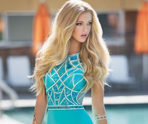 long prom dresses, turquoise prom dresses, and prom dresses 2016 image