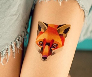 fox, Tattoos, and ink image