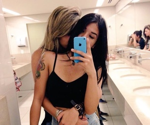 lesbian, girl, and couple image