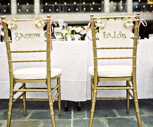 bride, chair, and decoration image