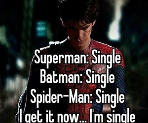 single, funny, and superhero image