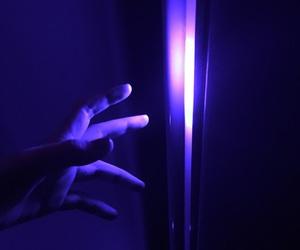blue, violet, and skin image