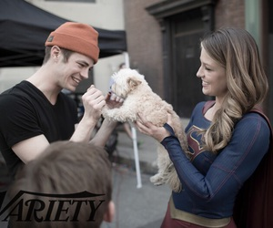 grant gustin, Supergirl, and barry allen image