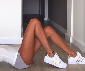 adidas, long legs, and love image