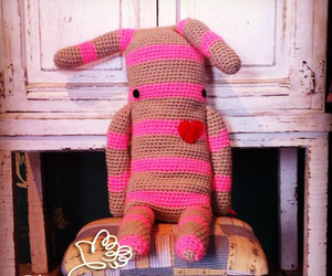 bunny, knit, and love image