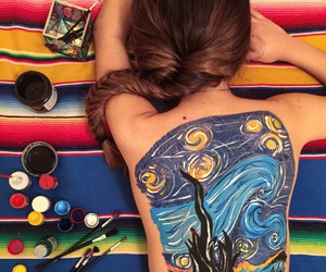 art, body paint, and colours image