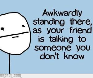 friends, awkward, and funny image