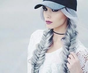 girl, gray, and hair image