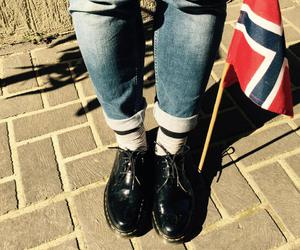 doc martens, feet, and flag image