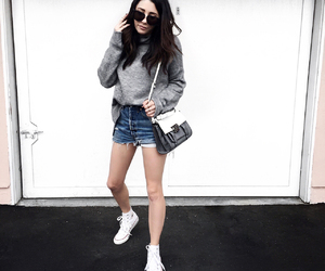 cashmere, fashion blogger, and converse image