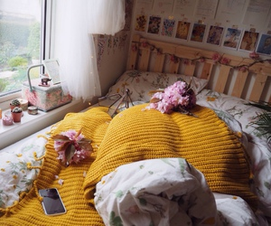 room, yellow, and home image