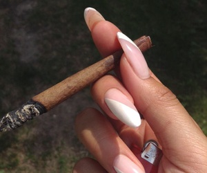 blunt, marijuana, and nails image