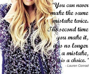 quote, lauren conrad, and mistakes image