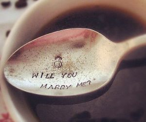 love, spoon, and proposal image