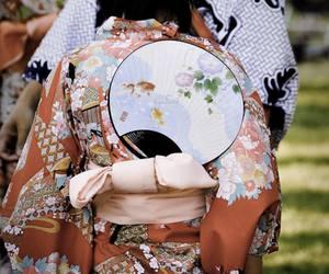 japan, kimono, and fan image