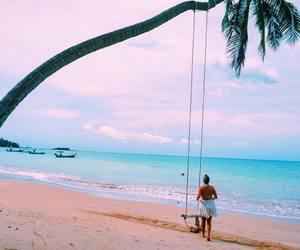 adventure, girl, and beach image