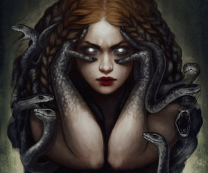 snake and medusa image