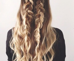 blond, braid, and curly image